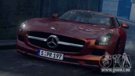 Mercedes-Benz SLS AMG 2011 [EPM] pour GTA 4 est une vue de l'intérieur