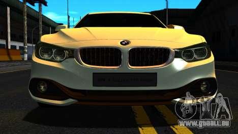 BMW 4-series F32 Coupe 2014 Vossen CV5 V1.0 pour GTA San Andreas vue intérieure