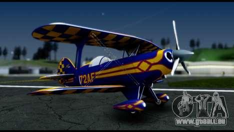 Alabeo PITTS S2S Blue für GTA San Andreas zurück linke Ansicht