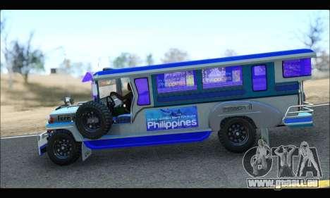 Light Jeepney pour GTA San Andreas sur la vue arrière gauche