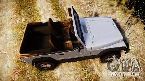 Jeep Wrangler 1988 pour GTA 4 est un droit