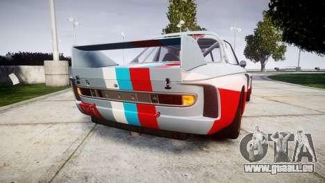 BMW 3.0 CSL Group4 pour GTA 4 Vue arrière de la gauche