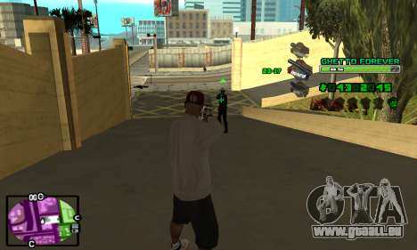C-HUD Ghetto 4ever für GTA San Andreas dritten Screenshot