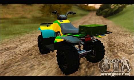 ATV Color Camo Army Edition pour GTA San Andreas laissé vue