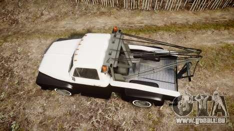 Vapid Towtruck Restored striped tires pour GTA 4 est un droit
