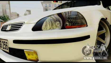 Honda Civic 1.4 Mehmet ALAN pour GTA San Andreas vue arrière