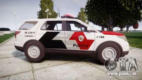 Ford Explorer 2013 Police Forca Tatica [ELS] pour GTA 4 est une gauche