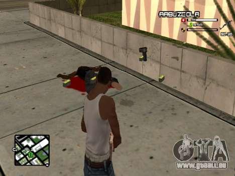 CLEO HUD by SampHack v.20 pour GTA San Andreas deuxième écran