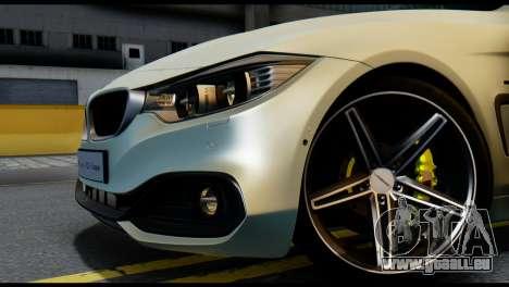 BMW 4-series F32 Coupe 2014 Vossen CV5 V1.0 pour GTA San Andreas sur la vue arrière gauche