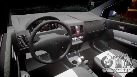 Hyundai Getz 2006 for ENB pour GTA 4 est une vue de l'intérieur