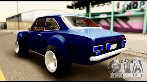 Ford Escort MK1 Modifive pour GTA San Andreas laissé vue