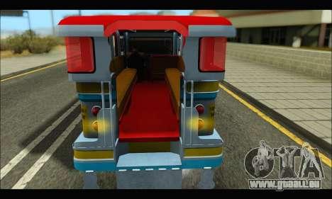 Jeepney Legacy für GTA San Andreas zurück linke Ansicht