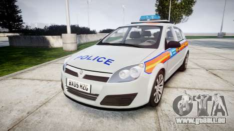 Vauxhall Astra 2005 Police [ELS] Britax für GTA 4