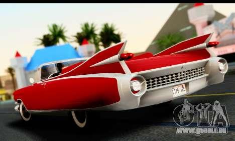Cadillac Eldorado Biarritz Convertible 1959 pour GTA San Andreas laissé vue