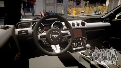 Ford Mustang GT 2015 Custom Kit black stripes gt für GTA 4 Innenansicht