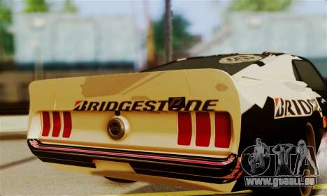 Ford Mustang RTR RedBull pour GTA San Andreas vue de droite