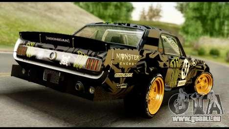 Ford Mustang 1965 Ken Block pour GTA San Andreas laissé vue