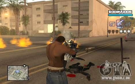 Blue C-HUD für GTA San Andreas dritten Screenshot