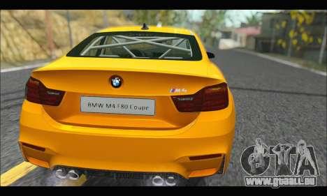 BMW M4 F80 Coupe 1.0 2014 pour GTA San Andreas vue de droite