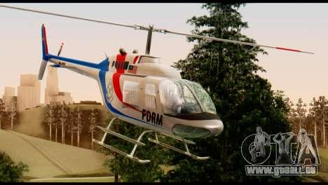 Malaysian Polis Helicopter Eurocopter Squirrel pour GTA San Andreas vue de droite