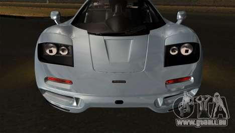 McLaren F1 Autovista für GTA San Andreas rechten Ansicht