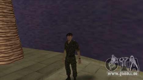 Le Corps des marines des forces armées pour GTA San Andreas cinquième écran