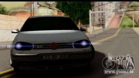 Volkswagen Golf 4 Tuning pour GTA San Andreas sur la vue arrière gauche
