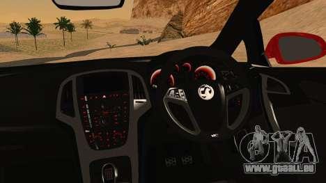 Vauxhall Astra VXR für GTA San Andreas rechten Ansicht