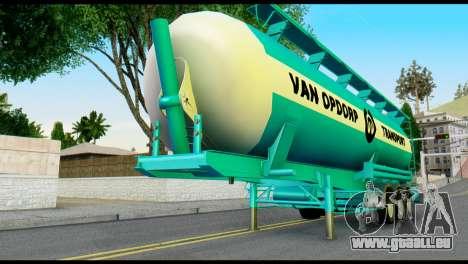Mercedes-Benz Actros Trailer VAN OPDORP für GTA San Andreas Rückansicht