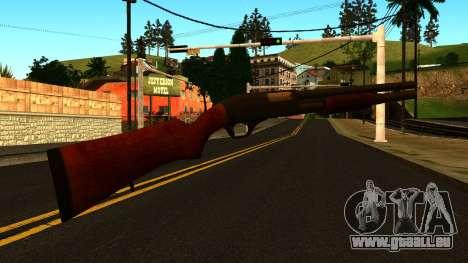 En bois MP-133 avec des Paillettes pour GTA San Andreas troisième écran