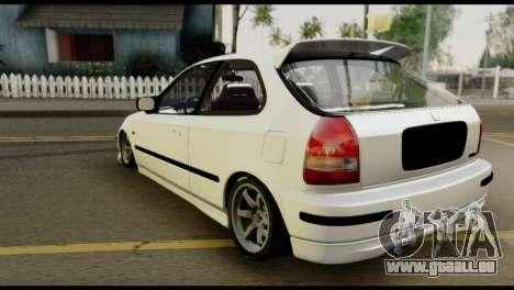 Honda Civic 1.4 Mehmet ALAN pour GTA San Andreas laissé vue