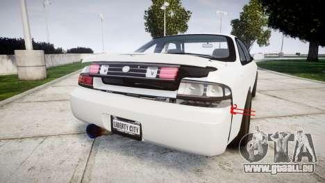 Nissan Silvia S14 Missile pour GTA 4 Vue arrière de la gauche