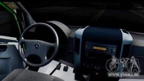 Mercedes-Benz Sprinter PrivatBank für GTA San Andreas Rückansicht