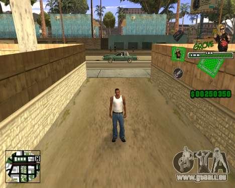 C-HUD Grove St. für GTA San Andreas her Screenshot
