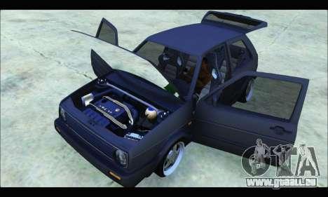 VW Golf MK2 pour GTA San Andreas vue de droite