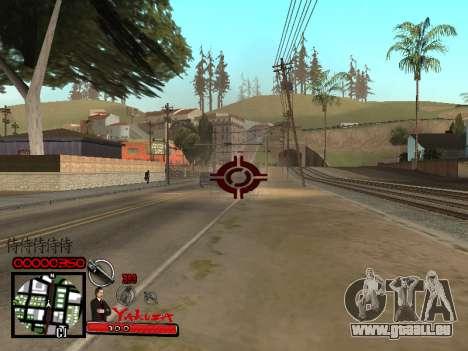 C-HUD Yakuza pour GTA San Andreas deuxième écran