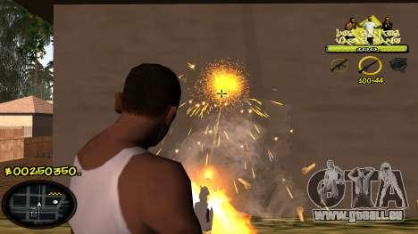 C-HUD Vagos pour GTA San Andreas quatrième écran