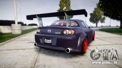 Mazda RX-8 Duck Edition pour GTA 4 Vue arrière de la gauche