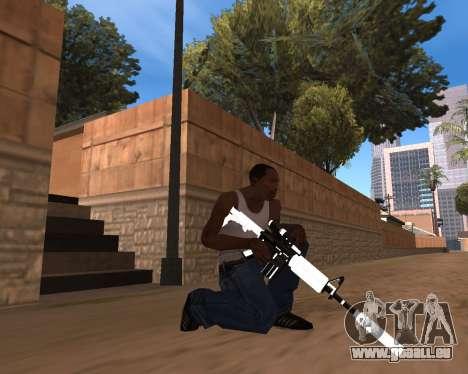 White Chrome Gun Pack pour GTA San Andreas huitième écran