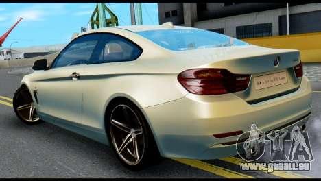 BMW 4-series F32 Coupe 2014 Vossen CV5 V1.0 pour GTA San Andreas laissé vue
