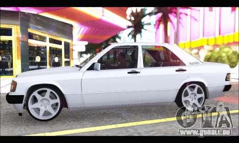 Mercedes Bad-Benz 190E (34 DDK 82) für GTA San Andreas zurück linke Ansicht