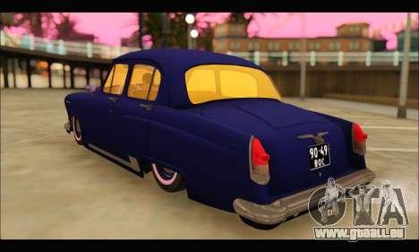 GAZ 21 Volga Resto für GTA San Andreas zurück linke Ansicht