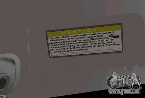 Daewoo Nubira I Wagon CDX US 1999 pour une vue GTA Vice City d'en haut