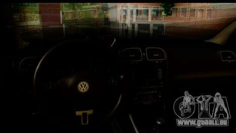 Volkswagen Golf 5 pour GTA San Andreas sur la vue arrière gauche