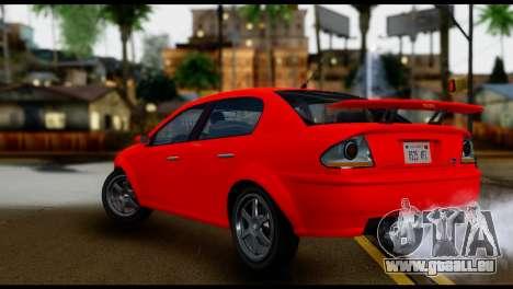 DeClasse Premier from GTA 5 IVF pour GTA San Andreas laissé vue