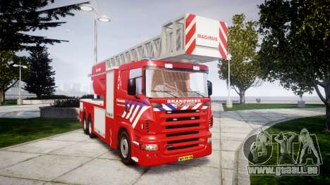 Scania R580 Dutch Fireladder [ELS] pour GTA 4