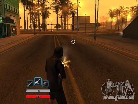 C-HUD by Fawkes (Fix) v2 pour GTA San Andreas troisième écran