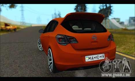 Opel Astra J für GTA San Andreas rechten Ansicht