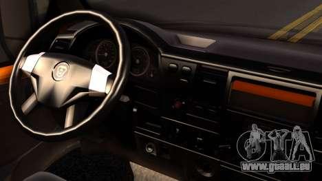 GAZelle 3221 2007 pour GTA San Andreas sur la vue arrière gauche