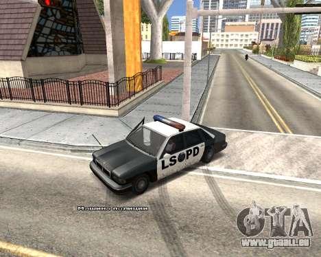 Car Name für GTA San Andreas fünften Screenshot